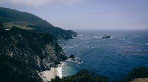 Preview wallpaper coast, sea, cliff