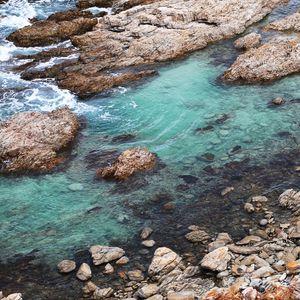 Preview wallpaper coast, stones, sea, water, nature