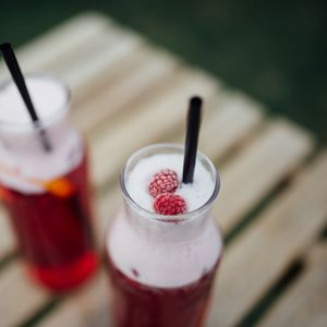 Preview wallpaper cocktail, drink, pitcher, raspberry, berries
