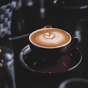 Preview wallpaper coffee, cappuccino, cup, foam, drink
