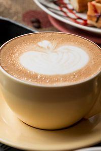 Preview wallpaper coffee, cappuccino, foam, cinnamon, corn