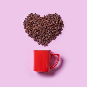 Preview wallpaper coffee, coffee beans, heart, cup, love