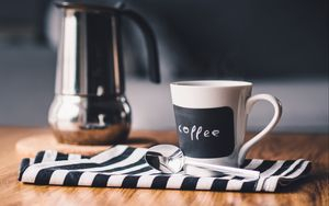 Preview wallpaper coffee, cup, kettle