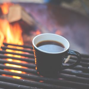 Preview wallpaper coffee, grill, cup