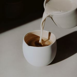 Preview wallpaper coffee, milk, cup, drink