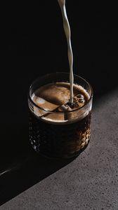 Preview wallpaper coffee, milk, drink, glass