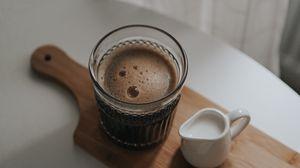 Preview wallpaper coffee, milk, cup, drink, foam