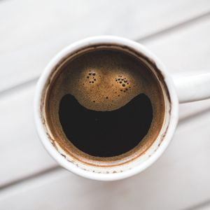 Preview wallpaper coffee, smile, drink