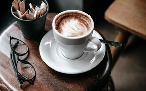 Preview wallpaper coffee, table, cup, glasses
