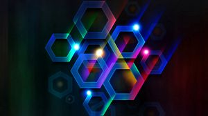 Preview wallpaper color, hexagon, cell, volume, lines, rays