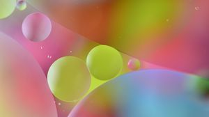 Preview wallpaper color, oil, water, multicolored, air, following