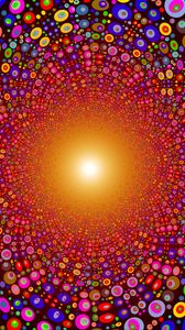 Preview wallpaper colorful, bright, circles, texture, line, explosion