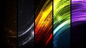 Preview wallpaper colorful, rays, lines, rectangles