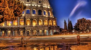 Preview wallpaper colosseum, rome, italy, ruins, hdr