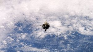 Preview wallpaper companion, orbit, flight, earth, planet, surface