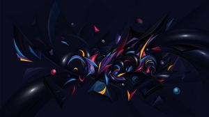 Preview wallpaper compound, forms, colorful, shade