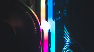 Preview wallpaper computer, neon, backlight, glow, darkness