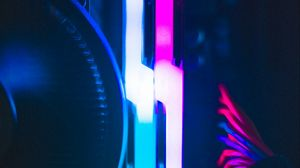 Preview wallpaper computer, neon, backlight, darkness, glow