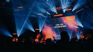 Preview wallpaper concert, performance, light organ, crowd