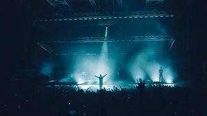 Preview wallpaper concert, performance, smoke, light, crowd, music