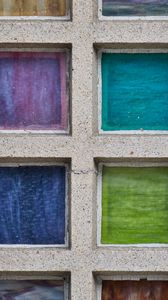 Preview wallpaper concrete, squares, colorful, texture