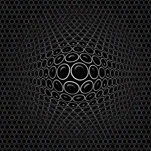 Preview wallpaper convex, embossed, realistic, 3d, circles, black