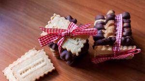 Preview wallpaper cookie, dessert, ribbon