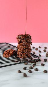 Preview wallpaper cookies, chocolate, dessert, cooking