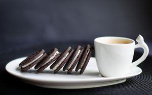 Preview wallpaper cookies, coffee, breakfast