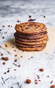 Preview wallpaper cookies, crumbs, dessert, brown