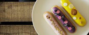 Preview wallpaper cookies, dessert, icing, plate