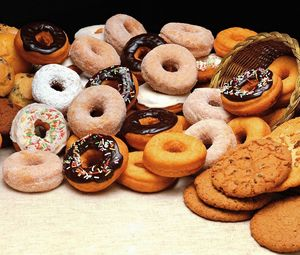 Preview wallpaper cookies, donuts, batch, allsorts, variety