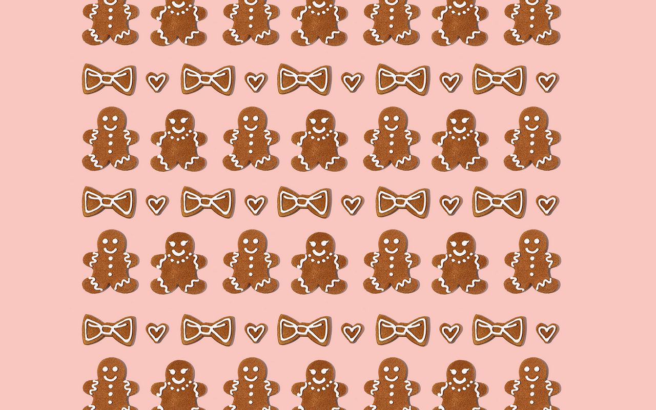1280x800 Wallpaper cookies, figurines, holiday, christmas, new year