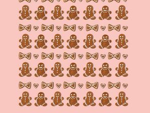 Preview wallpaper cookies, figurines, holiday, christmas, new year