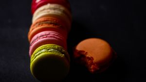 Preview wallpaper cookies, macarons, colorful, dessert