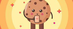 Preview wallpaper cookies, mug, boss, art, vector