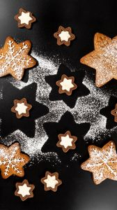 Preview wallpaper cookies, stars, dessert, cooking, holidays