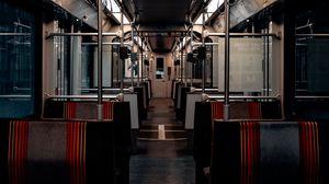 Preview wallpaper corridor, carriage, seats, subway