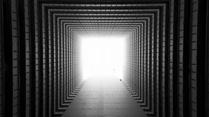 Preview wallpaper corridor, symmetry, geometry, architecture, light, perspective