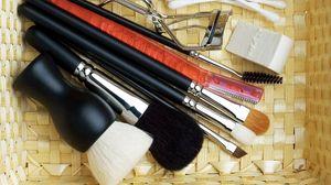Preview wallpaper cosmetics, makeup, brush, set