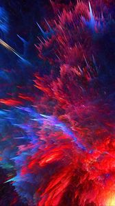 Preview wallpaper cosmic explosion, bright, lines, shapes