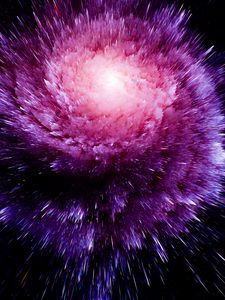 Preview wallpaper cosmic explosion, bright, lines, shapes, volume, pointed