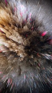 Preview wallpaper cosmic explosion, lines, shapes, volume, pointed, brilliance