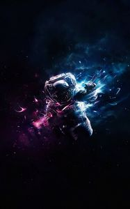 Preview wallpaper cosmonaut, astronaut, art, space, flight, gravity