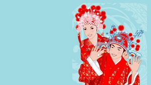 Preview wallpaper couple, dress, image, people, smile, girl, boy, vector