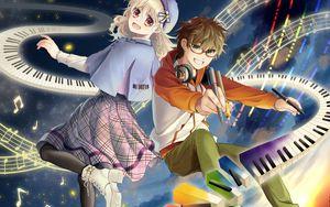 Preview wallpaper couple, friends, creativity, anime, art