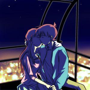 Preview wallpaper couple, kiss, art, love, anime