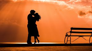 Preview wallpaper couple, kiss, love