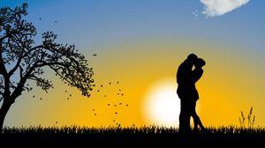 Preview wallpaper couple, love, romance, cloud