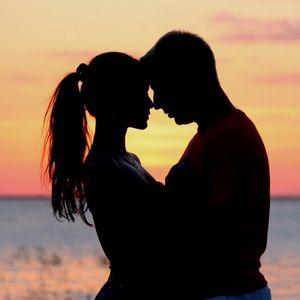 Preview wallpaper couple, love, sunset, hugs
